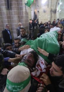 تشييع قسامييَنٍْ بغزة