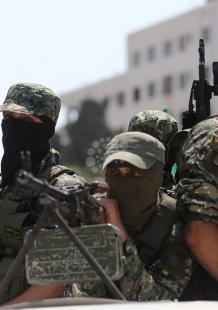 عرض عسكري للقسام بجمعة الغضب نصرة للأقصى