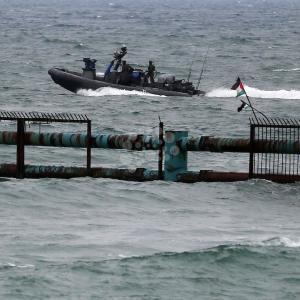 قمع إسرائيلي للمسير البحري شمال غزة