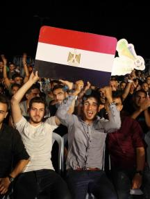 غزة تشجّع مصر في كأس العالم