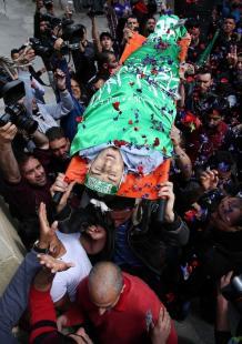 نابلس تشيع جثمان الشهيد عمير شحادة