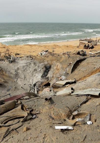 قصف موقع للمقاومة شمال قطاع غزة