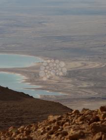جمال المحميات الطبيعية قرب البحر الميت