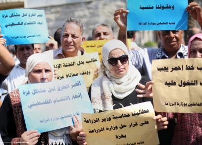 موظفو الزراعة بغزة يرفضون إحالتهم للتقاعد