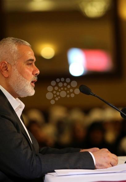 خطاب رئيس المكتب السياسي لحماس إسماعيل هنية
