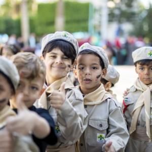 أطفال بغزة يحتفلون باليوم العالمي للطفل