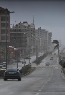 رياح قوية تضرب غزة