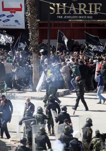 قمع تظاهرة لحزب التحرير ضد الاعتقال السياسي بالخليل