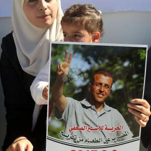 تظاهرة في الخليل نصرة للصحفي الأسير القيق