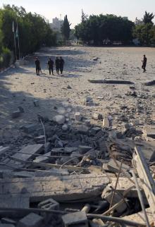 آثار الدمار جراء القصف على غزة