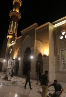 تشطيب مسجد الحساينة بميناء غزة