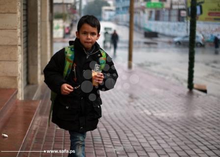 أمطار صباحية بغزة