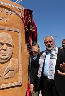 افتتاح نصب الأسرى التذكاري شمال غزة
