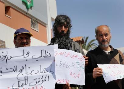 عمال غزة يطالبون بحقوقهم بعد 10 سنوات من الحصار