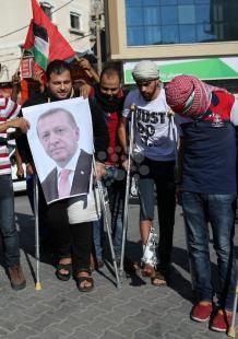 فرحة بخان يونس فور فوز رجب إردوغان بالانتخابات التركية