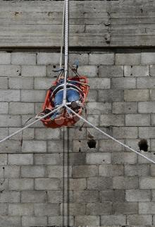 مناورة للدفاع المدني بغزة