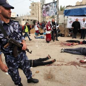 مناورة جنوب القطاع تُحاكي حوادث سير واستهداف