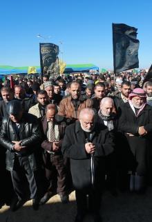 جنازة رمزية للصياد الهسي بغزة