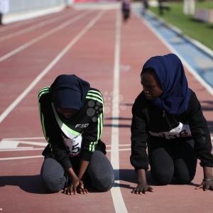 شبّان بغزة يشاركون بألعاب القوى