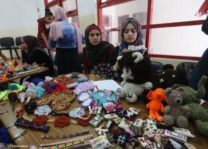 معرض للأشغال اليدوية بغزة