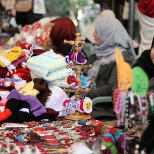 معرض للمنتجات اليدوية بمدينة غزة