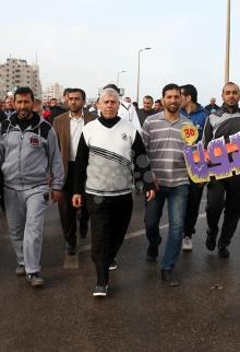 مسيرة تجاه الحدود الشرقية لغزة