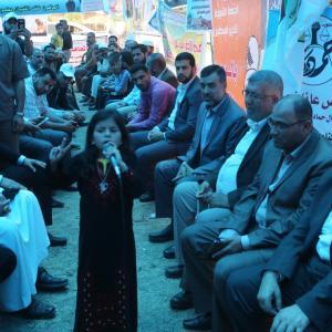 هنية في خيمة اعتصام إضراب الأسرى