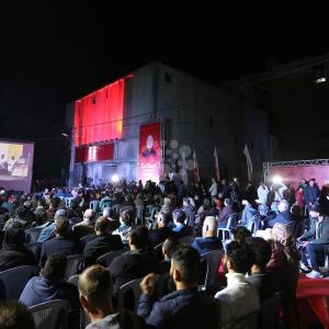 افتتاح مهرجان السجادة الحمراء السينمائي بغزة