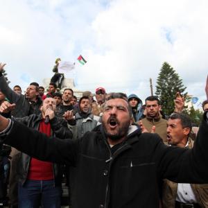 تظاهرة عمالية غاضبة في غزة