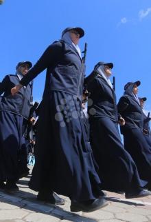 تخريج دورات ضباط وصف ضباط بغزة