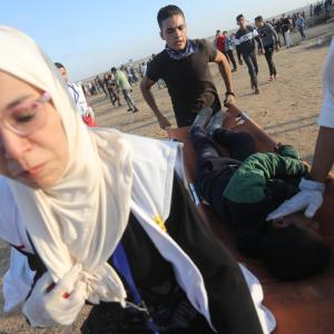 اعتداءات الاحتلال على المشاركين بمسيرة العودة