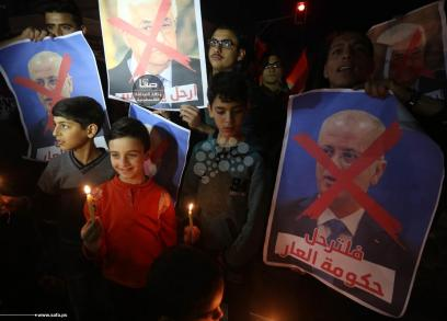 وقفات شموع في قطاع غزة رفضًا للمؤامرة والحصار