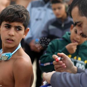 بطولة للسباحة في غزة