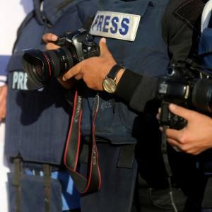 صحفيو غزة يحتجون على استهداف جيش الاحتلال لهم