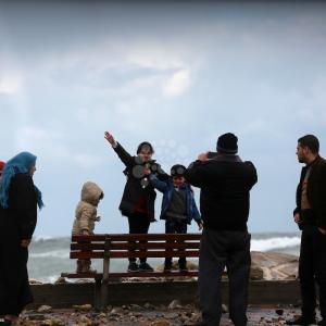 أجواء المطر في غزة