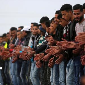 مهرجان تراثي وسط قطاع غزة