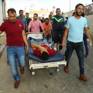 شهيدين وجرحى بقصف على غزة