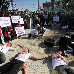غزة تتضامن مع حلب ومسلمي بورما