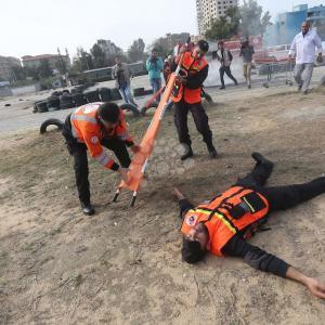 مناورة لوزارة الداخلية في غزة