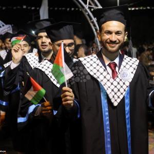 مراسم حفل تخريج بجامعة الأزهر بغزة