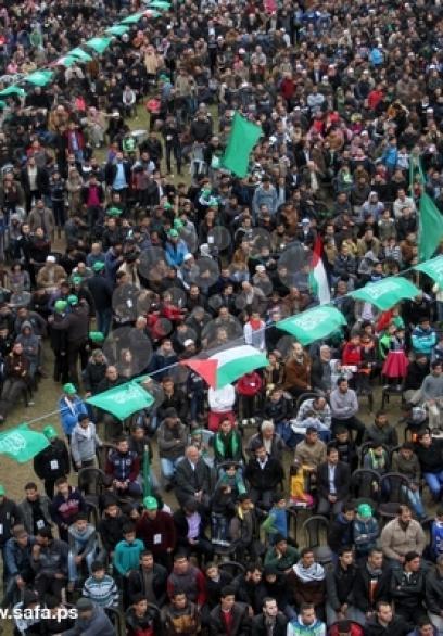مهرجان لحركة حماس بخانيونس دعما لانتفاضة القدس