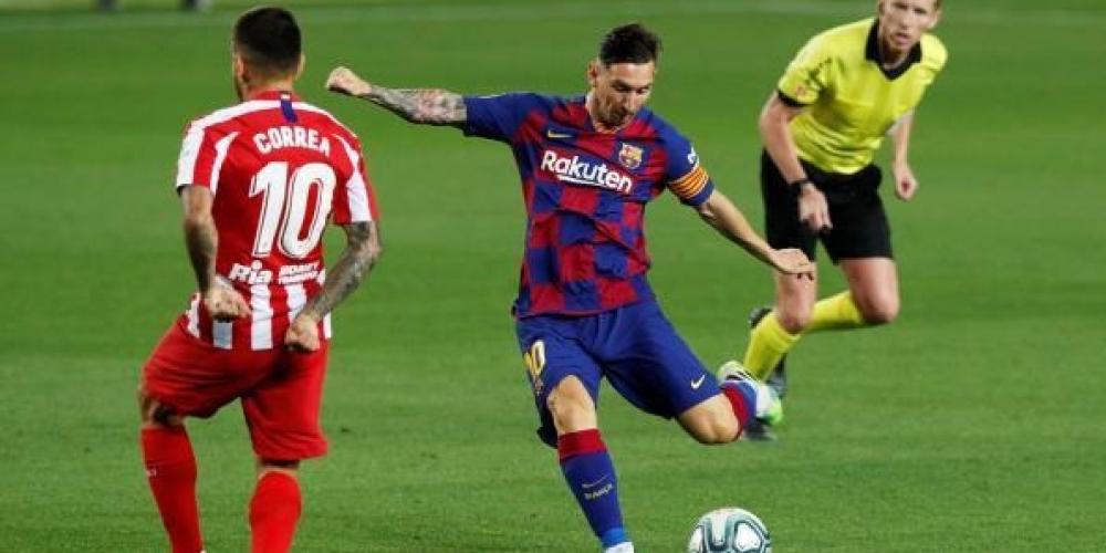 ميسي سجل الهدف 700 في مباراة أتلتيكو مدريد