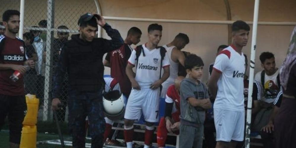 انسحاب لاعبي غزة الرياضي من المباراة