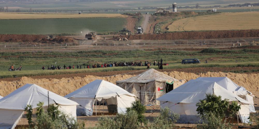 مخيم العودة شرقي مدينة غزة