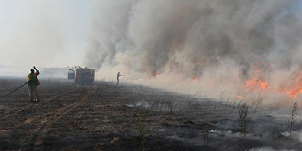 حريق اندلع لدى الاحتلال الإسرائيلي
