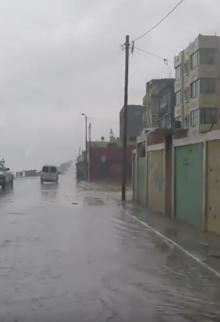 جولة تحت المطر بمدينة غزة