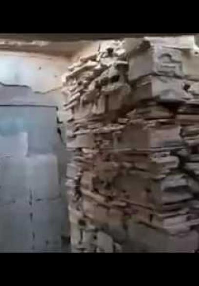 لمسات هولندية تحيل منزلاً مدمرًا بخانيونس للوحة فنية