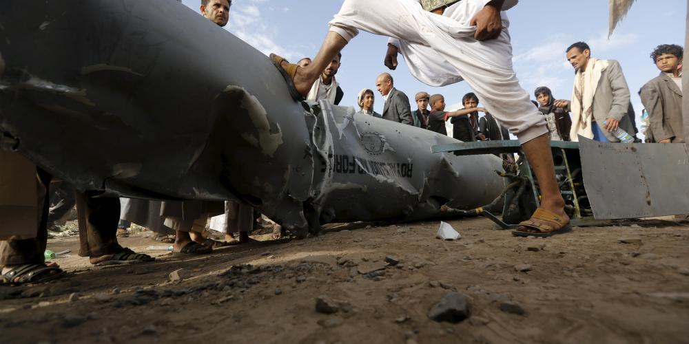 طائرة عسكرية سعودية سقطت في اليمن سابقًا