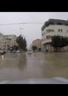 أمطار في شوارع مدينة غزة
