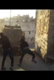 مواجهات في قرية عوريف جنوب نابلس 26 /2 /2015